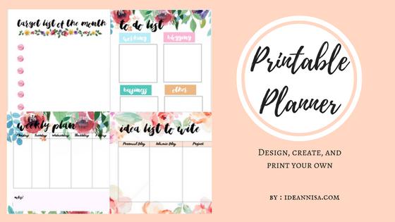 photo about Font Printable titled Membuat Printable Planner Sendiri Menggunakan Canva - Ideannisa