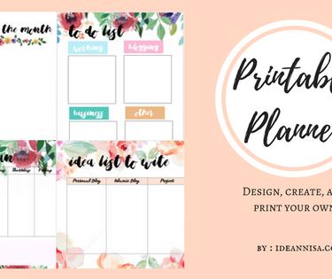Membuat Printable Planner Sendiri Menggunakan Canva